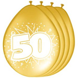 De feestbordenshop verhuurt feestartikelen voor het 50 for Feestversiering goud