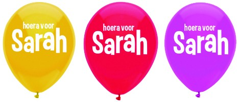 sarah jarig De Feestbordenshop heeft ook feestversiering te koop, zoals  sarah jarig